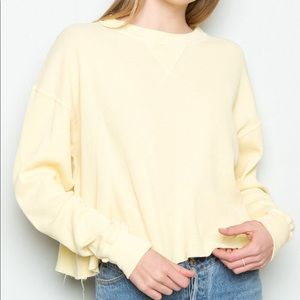 Brandy Melville Thermal Yellow Laila